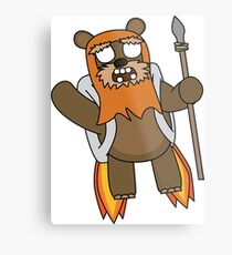 zombie ewok with a jetpack Metal Print