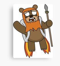 zombie ewok with a jetpack Canvas Print