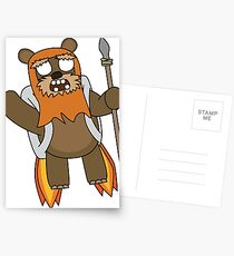 zombie ewok with a jetpack Postcards