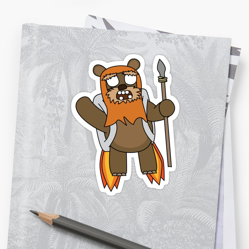 zombie ewok with a jetpack by shortstack