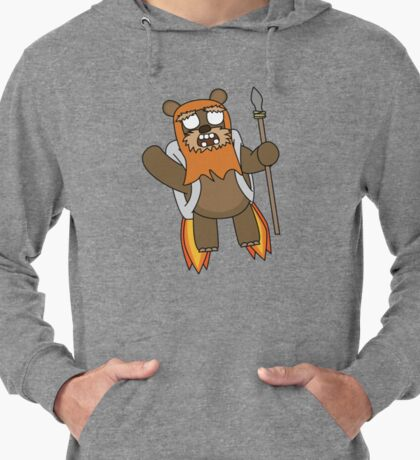 zombie ewok with a jetpack Lightweight Hoodie