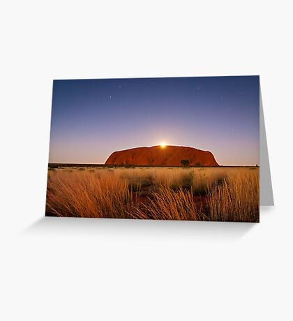 Moonrise over the Rock Greeting Card