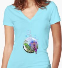 Idalis the Indoor Gardening Fairy Women's Fitted V-Neck T-Shirt