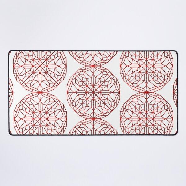 KALIEDOSCIPE ROUND PATTERN RED Desk Mat