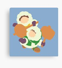 Smash Bros - Ice Climbers Purple Gloves Canvas Print