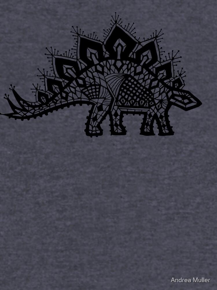 Stegosaurus Spitze - Schwarz / Grau von andreaalice