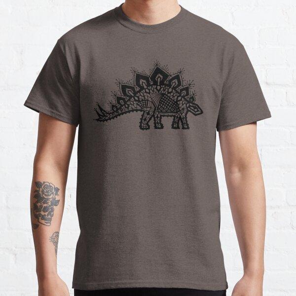 Stegosaurus Lace - Black / Grey Classic T-Shirt
