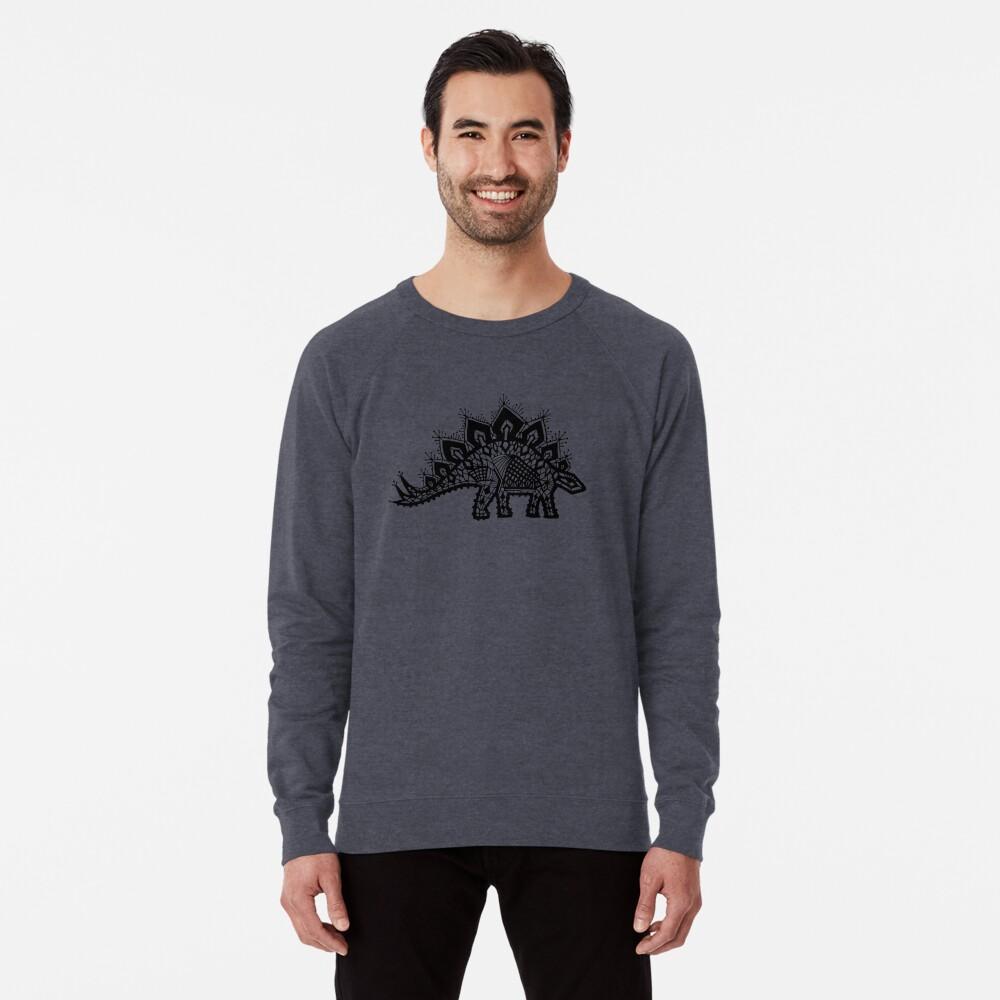 Stegosaurus Spitze - Schwarz / Grau Leichter Pullover