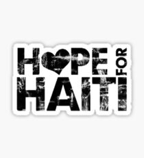 Praying and Hoping For Haiti Sticker