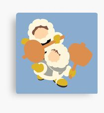 Smash Bros - Ice Climbers Yellow Gloves Canvas Print