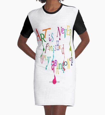 Unfinished Art... Graphic T-Shirt Dress