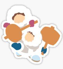Smash Bros - Ice Climbers White Parkas Sticker