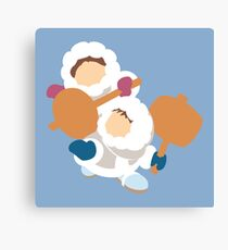 Smash Bros - Ice Climbers White Parkas Canvas Print