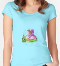 Qiana the Outdoor Gardening Fairy Women's Fitted Scoop T-Shirt