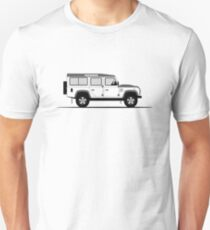 A Graphical Interpretation of the Defender 110 Station Wagon Fire and Ice Edition T-Shirt