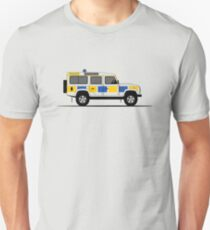 A Graphical Interpretation of the Defender 110 Station Wagon Police Car T-Shirt