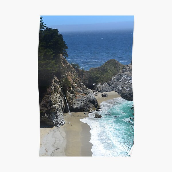Waterfall at Julia Pfeiffer Burns State Park Poster