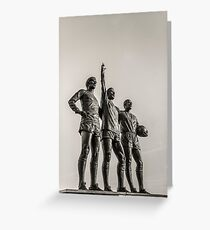 Manchester United Legends Greeting Card