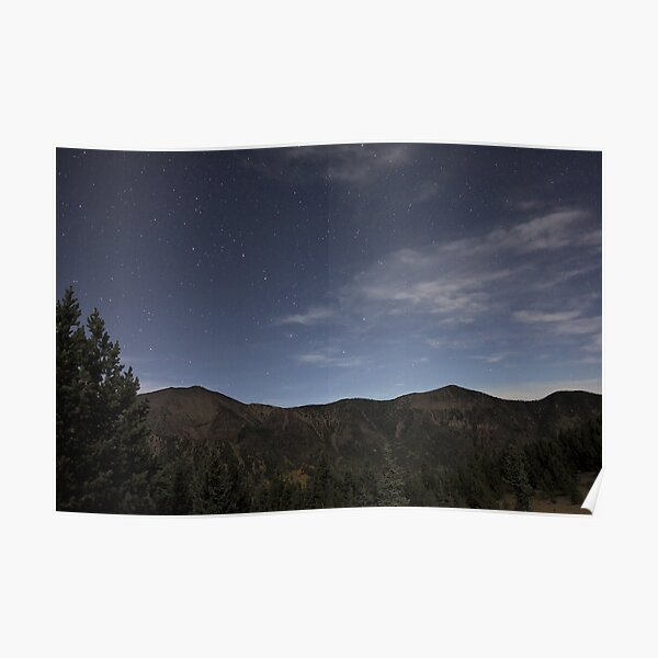 Stars Over San Francisco Peaks Poster