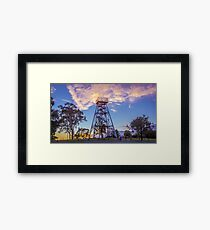 Poppet Head Lookout at Sunrise Framed Print