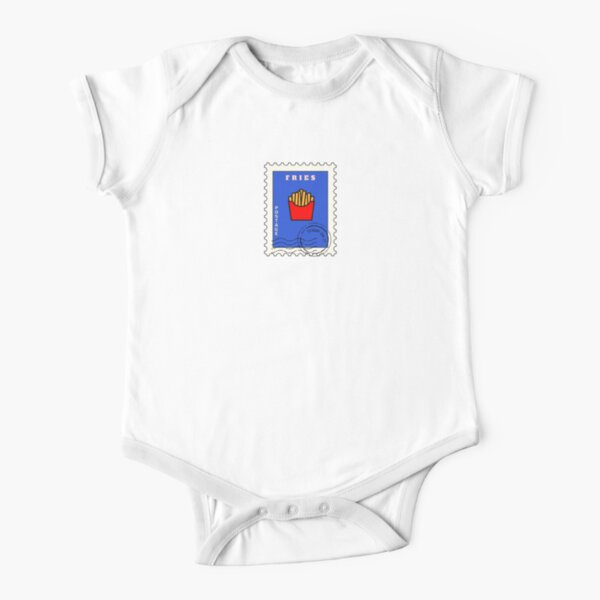 Fries Stamp Short Sleeve Baby One-Piece