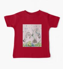 Mother Manatee and baby by Liz H Lovell Baby Tee