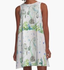 Mother Manatee and baby by Liz H Lovell A-Line Dress