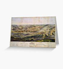 Vintage Map of The Gettysburg Battlefield (1863)  Greeting Card
