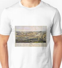 Vintage Map of The Gettysburg Battlefield (1863)  Unisex T-Shirt