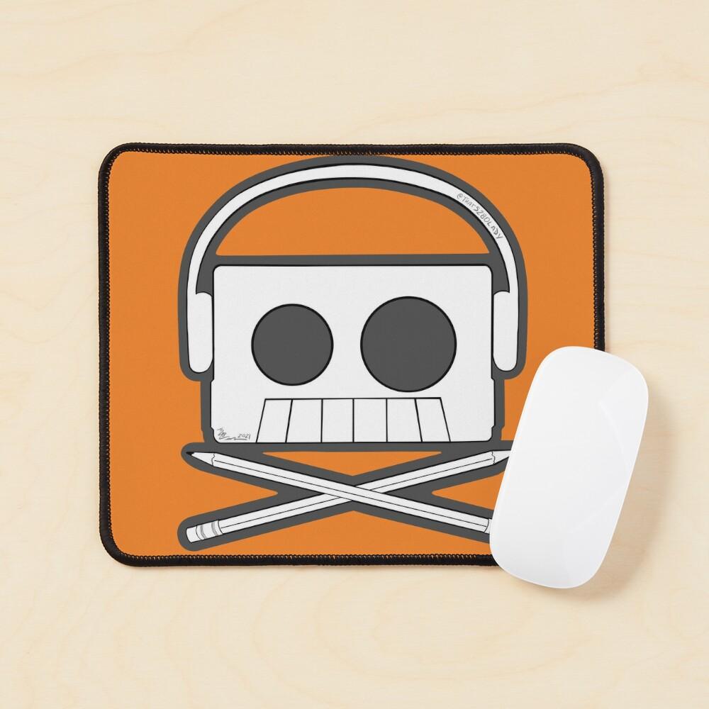 X Marks The Beats - Cassette Skull and pencil cross bones orange Mouse Pad