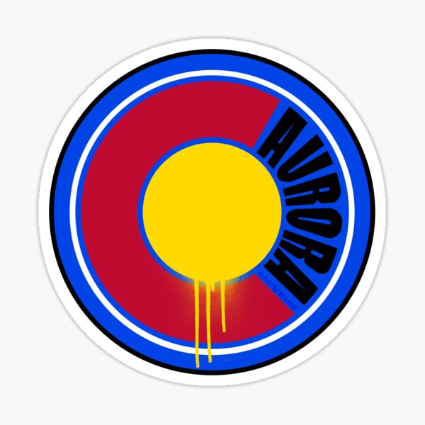 That Aurora Colorado Drip Glossy Sticker