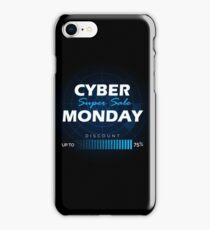 Cyber Monday sale design template iPhone Case/Skin