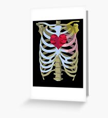 Skeleton Heart Greeting Card
