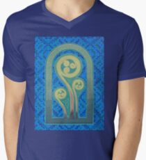 Triskele Ferns Unfurl Men's V-Neck T-Shirt