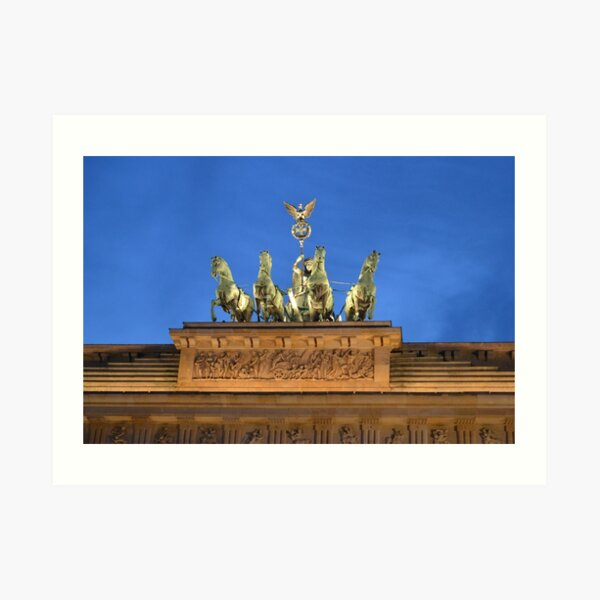 Quadriga at Brandenburg Gate Berlin, Germany Kunstdruck
