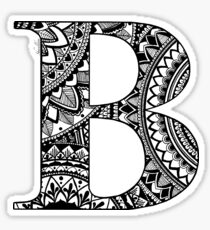 Mandala Letter B Sticker