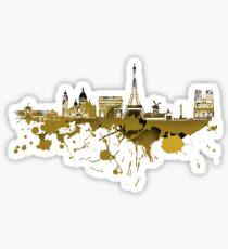 Paris skyline..2 Sticker