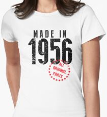 Made In 1956, All Original Parts Women's Fitted T-Shirt