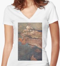 A city among the Isles Women's Fitted V-Neck T-Shirt