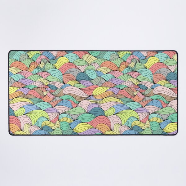 Seamless Uneven Pattern With Lots Of Colors Desk Mat