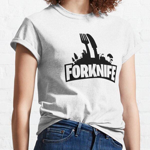 Funny Forknife Shirt | Fork Knife Video Game Joke Classic T-Shirt
