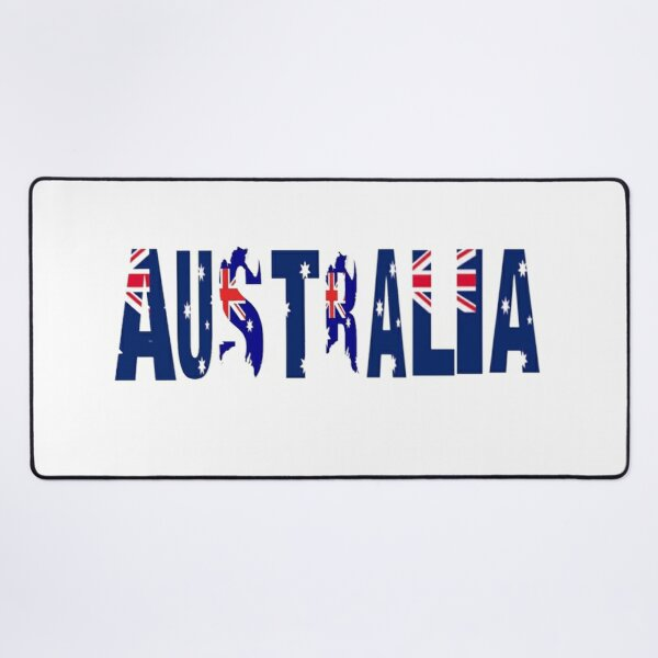 Australia The Land Down Under Desk Mat