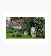 Rosalee Cottage Garden Art Print
