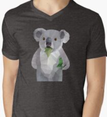 Koala with Koalafication Polygon Art Men's V-Neck T-Shirt