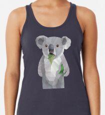 Koala mit Koalafication Polygon Art Racerback Tank Top