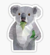 Koala with Koalafication Polygon Art Sticker