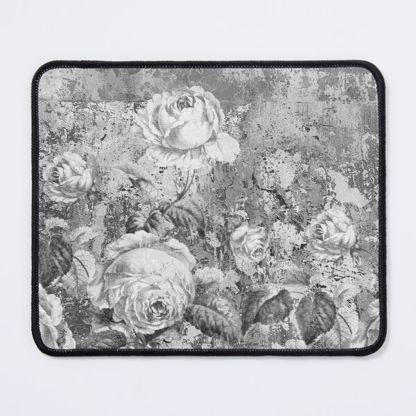 Shabby Chic, monochrome grey,  feminine and delicate.  Mouse Pad