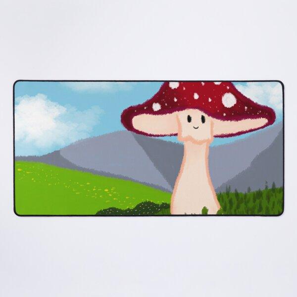 Red Mushroom Landscape  Desk Mat