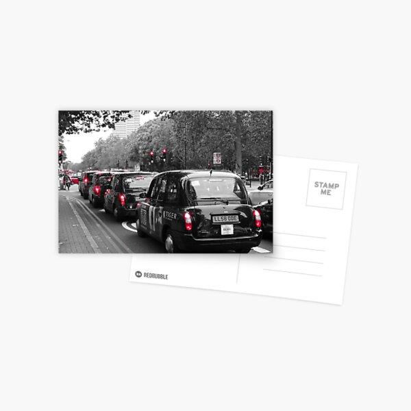London Taxis - Black cabs Postcard