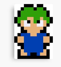 Pixel Lemming Canvas Print